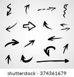 hand drawn arrows  vector set   Shutterstock .eps vector #374361679