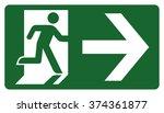 signpost  leave  enter or pass... | Shutterstock .eps vector #374361877