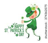vector illustration of happy... | Shutterstock .eps vector #374362075