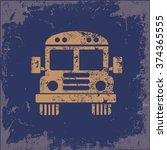school bus design on old...   Shutterstock .eps vector #374365555