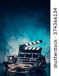 retro film production... | Shutterstock . vector #374366134