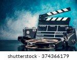 retro film production... | Shutterstock . vector #374366179