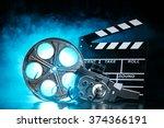 retro film production... | Shutterstock . vector #374366191