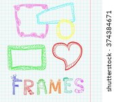 colored frames and funny letters | Shutterstock .eps vector #374384671
