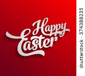 happy easter logo | Shutterstock .eps vector #374388235