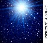 shining star on cosmos sky....   Shutterstock .eps vector #374388871