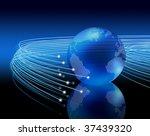 optical fibers lights speeding... | Shutterstock . vector #37439320