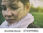 sad woman | Shutterstock . vector #374399881