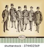 vintage hand drawn gentleman