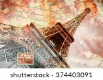 Eiffel Tower Paris  Abstract...