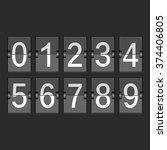 mechanical timetable ... | Shutterstock .eps vector #374406805