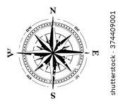 compass navigation dial  ... | Shutterstock .eps vector #374409001