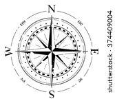 compass navigation dial  ... | Shutterstock .eps vector #374409004