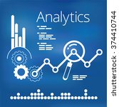 analytics infographic elements | Shutterstock .eps vector #374410744