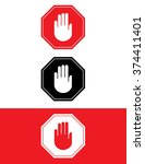 vector stop sign set | Shutterstock .eps vector #374411401
