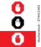 vector stop sign set | Shutterstock .eps vector #374411401