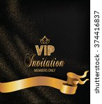 vip  gold invitation with...   Shutterstock .eps vector #374416837