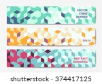 abstract polygonal banner... | Shutterstock .eps vector #374417125
