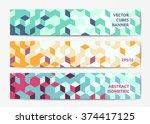 abstract polygonal banner...   Shutterstock .eps vector #374417125
