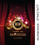 vip invitation card with... | Shutterstock .eps vector #374417677