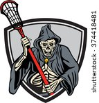 illustration of the grim reaper ... | Shutterstock . vector #374418481