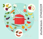 icons for food and restaurant. | Shutterstock .eps vector #374420239