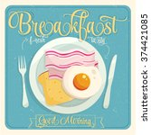 breakfast vector | Shutterstock .eps vector #374421085