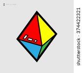 double pyramid icon   vector... | Shutterstock .eps vector #374422321