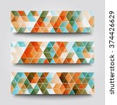 set of banner templates with... | Shutterstock . vector #374426629