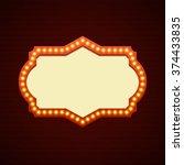 retro showtime sign design.... | Shutterstock .eps vector #374433835