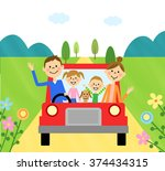 drive in the family | Shutterstock . vector #374434315