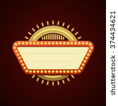 retro showtime sign design.... | Shutterstock .eps vector #374434621