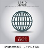 globe  website  vector icon   Shutterstock .eps vector #374435431