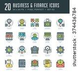 line icons set. trendy modern... | Shutterstock .eps vector #374436784