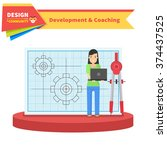 development and coaching woman. ... | Shutterstock .eps vector #374437525