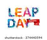 leap day. february 29 | Shutterstock .eps vector #374440594
