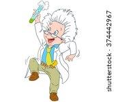 scientist. chemist. invention... | Shutterstock .eps vector #374442967