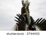 Traditional Dancer At Native...