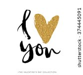 i love you. i heart you.... | Shutterstock .eps vector #374445091