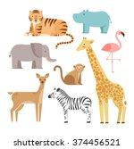 Jungle Animals Icons Set ...