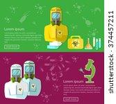 biohazard biological threat...   Shutterstock .eps vector #374457211