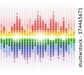 rainbow shining digital... | Shutterstock . vector #374465671