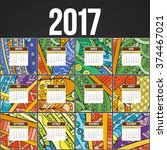 Zentangle Colorful Calendar...