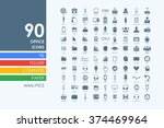set of office icons | Shutterstock .eps vector #374469964