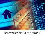 house icon and cursor. macro... | Shutterstock . vector #374470051
