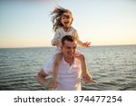 happy family  the young man and ... | Shutterstock . vector #374477254