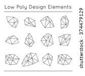 vector low poly design elements ...   Shutterstock .eps vector #374479129
