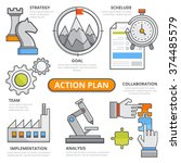 action plan design concept ... | Shutterstock .eps vector #374485579
