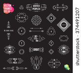 set of geometric logotypes ... | Shutterstock .eps vector #374491207