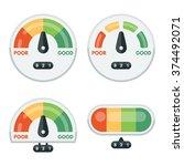set of credit score indicators... | Shutterstock .eps vector #374492071